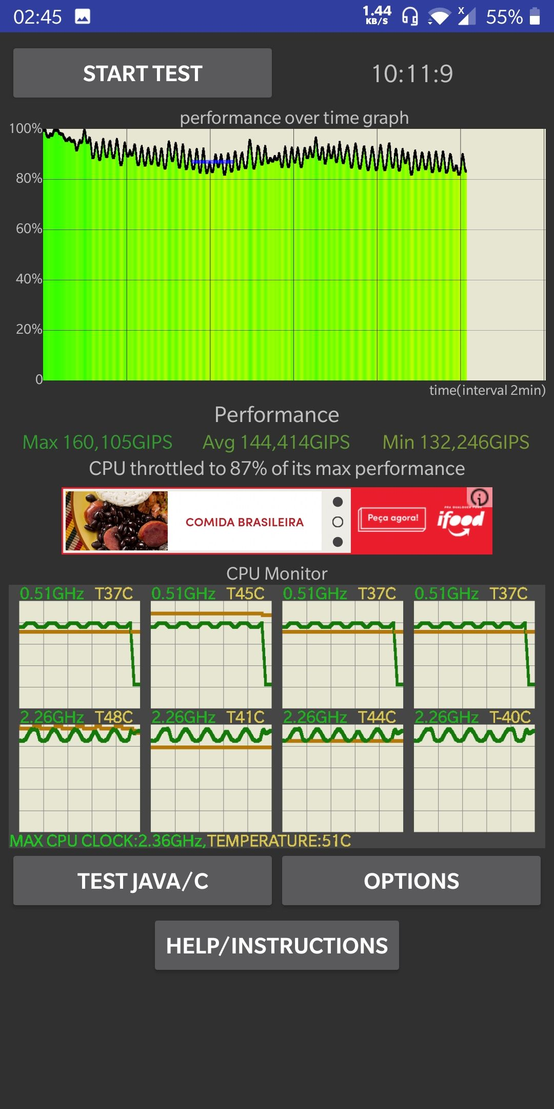POST your Cpu throttle results - OnePlus Community