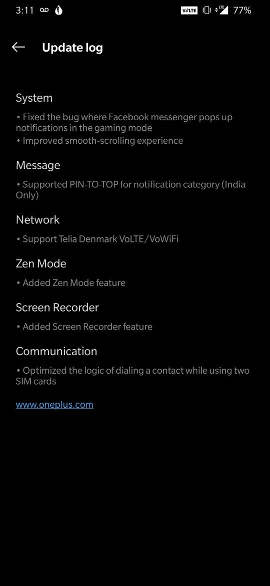 OxygenOS Open Beta 19 for the OnePlus 6 and Open Beta 11 for
