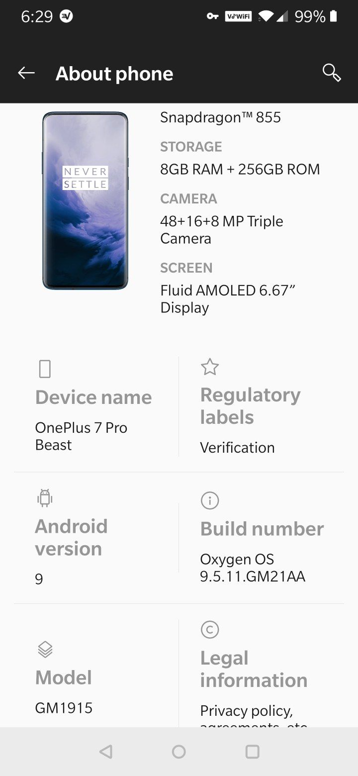 how to get tmobile firmware back on oneplus 7 pro