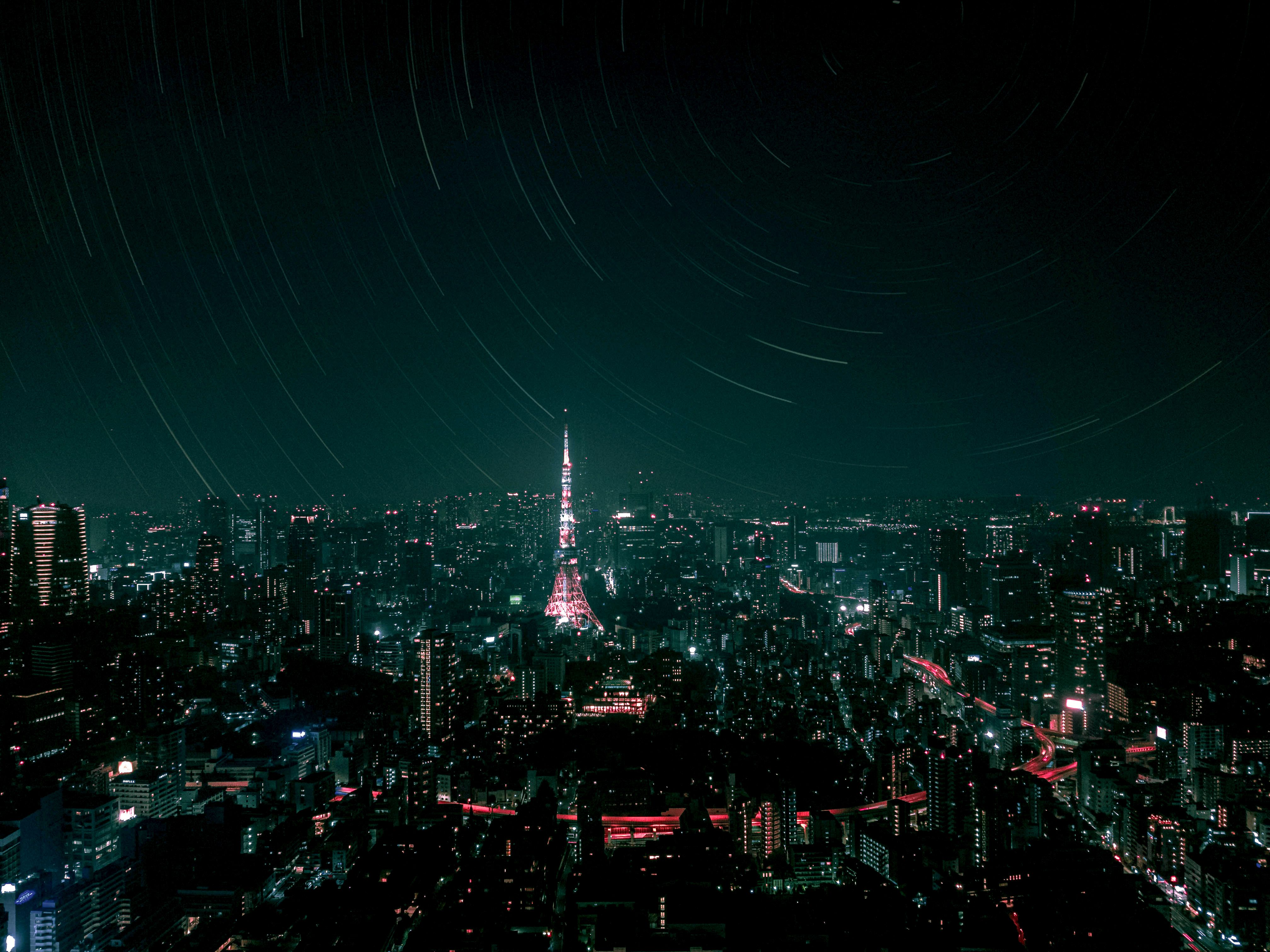 Tokyo tower at night FF7 Mako Color Fix1.jpg