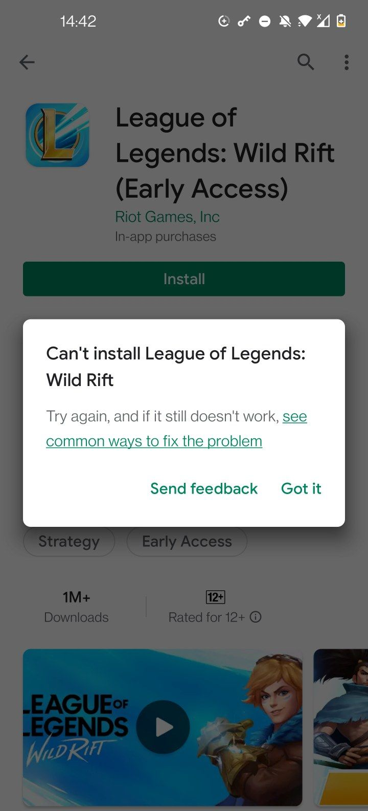 Cant install updates or download games on Play Store