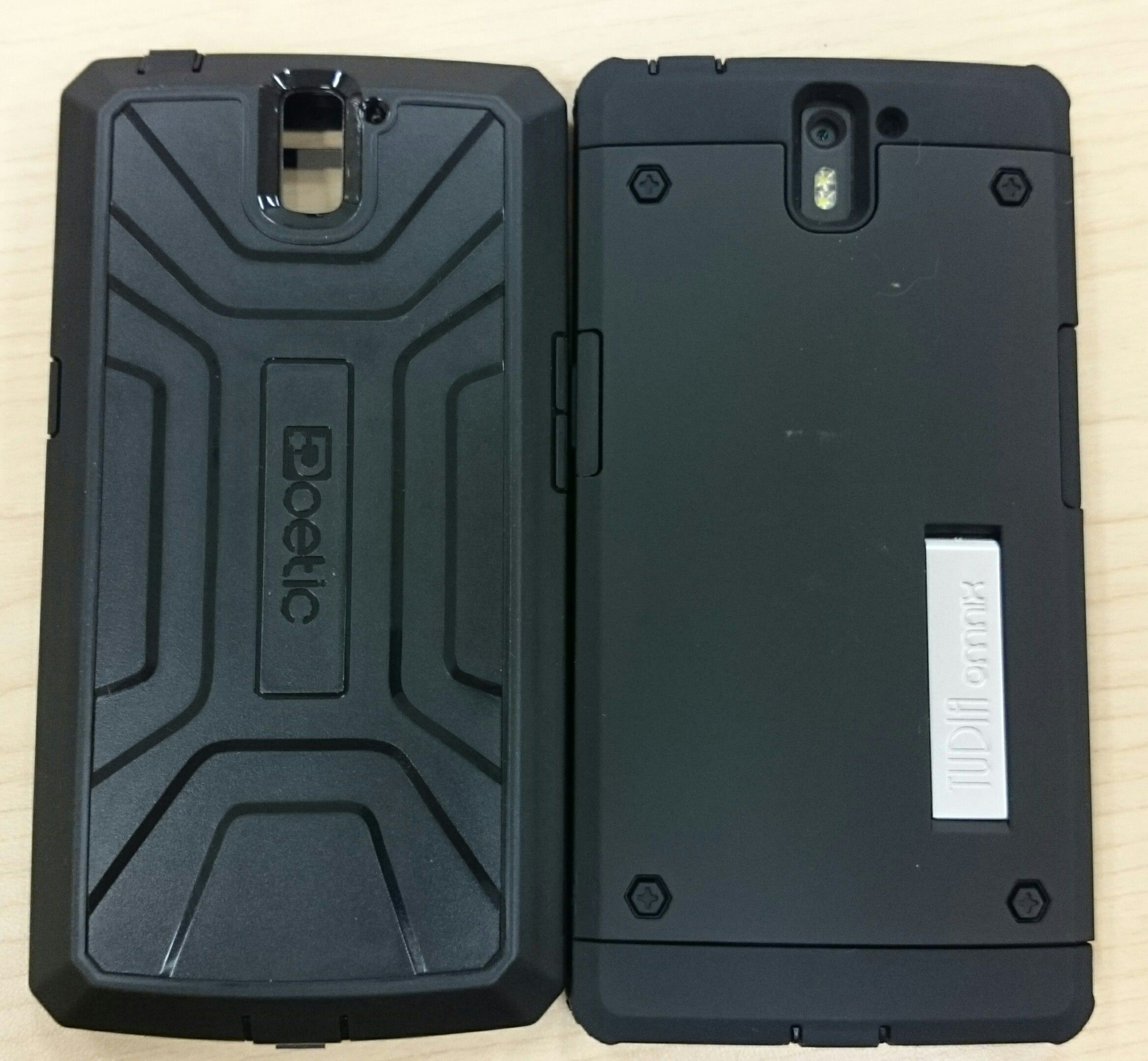 buy popular f0c4a a3f6b PICS] POETIC Revolution case VS TUDIA Omnix case - OnePlus Community