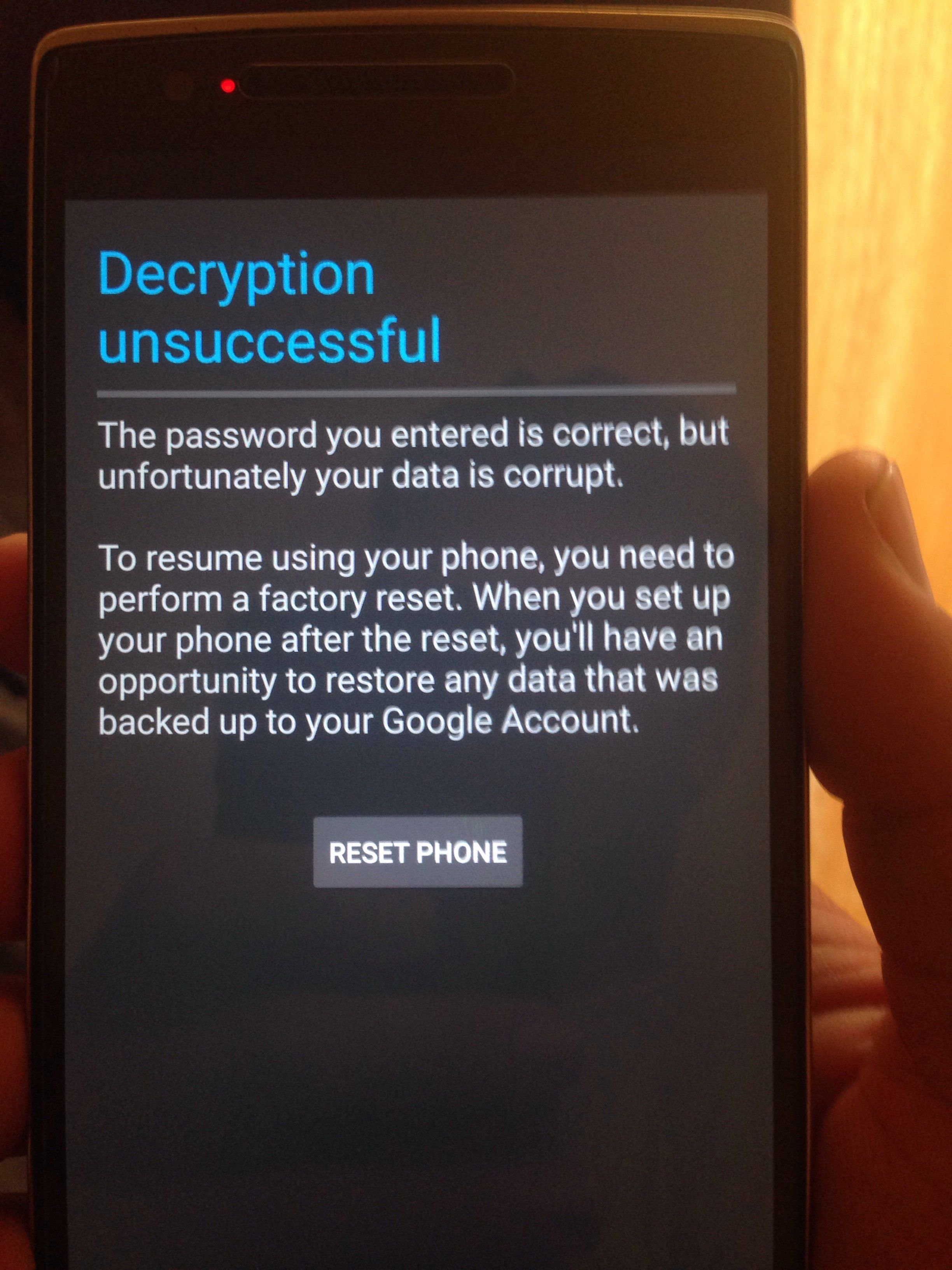 Oneplus one stuck at cyanogenmod screen forever  Won't boot