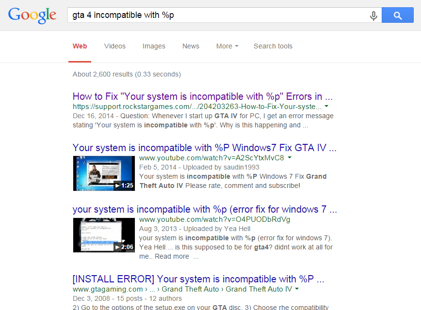 OFF TOPIC] GTA IV incompatible with windows 10    Help