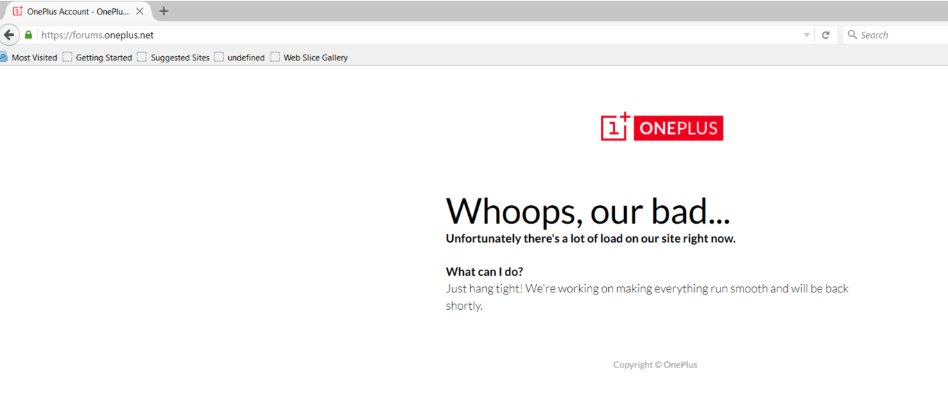 Forum Down-Limited Bandwidth? - OnePlus Community