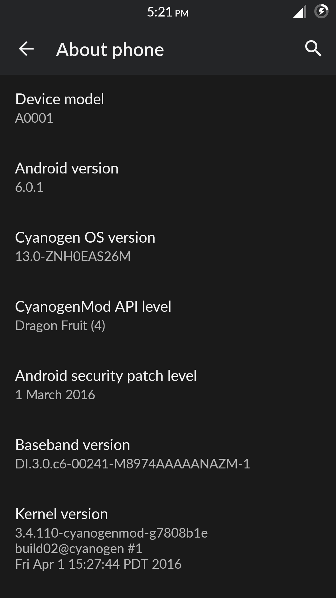 ROM][Full ZIP] Cyanogen OS 13 ZNH0EAS26M - Untouched -MM- Flashable