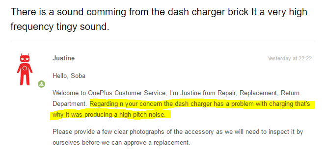Dash Charger Tingy sound - OnePlus Community