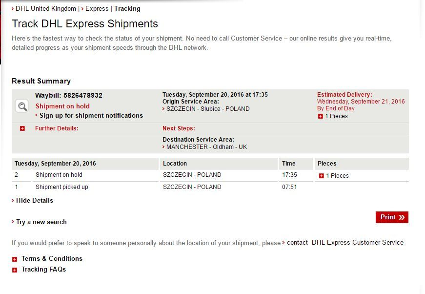 HELP : DHL considers dangerous package and refuses to