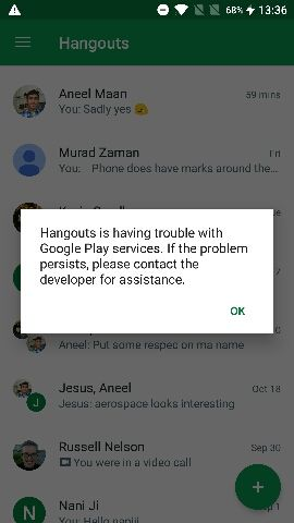 Issues with Gmail and Hangouts - OnePlus Community