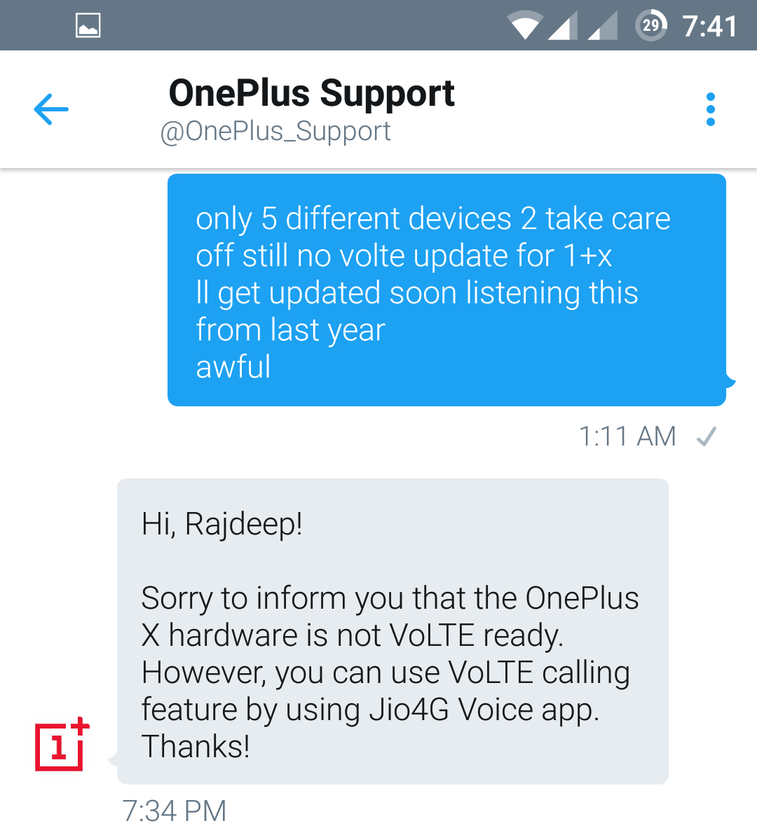 Network/Connectivity - VoLTE for OnePlus X - OnePlus Community