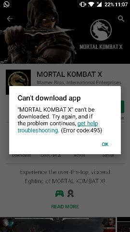 play store cant download error 0