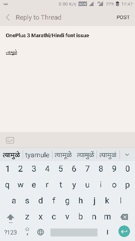 OnePlus 3 Marathi/Hindi font issue - OnePlus Community