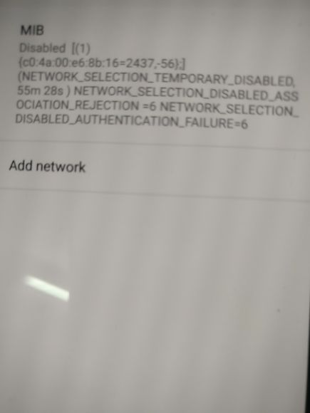 wifi stuck at disabled ( wifi association rejection