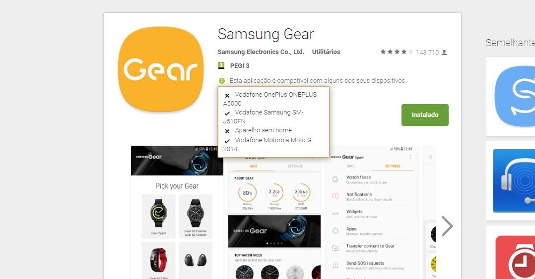 Third Party Software - Samsung gear S3 not compatible with One Plus