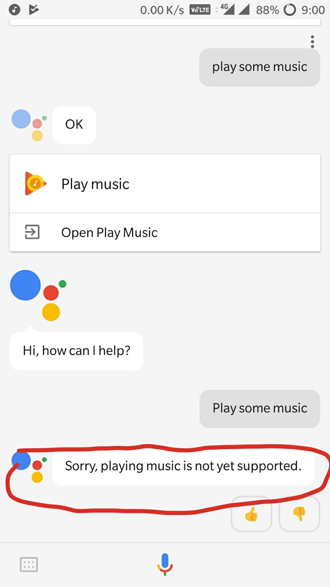 playing music in Google Assistant not working - OnePlus Community