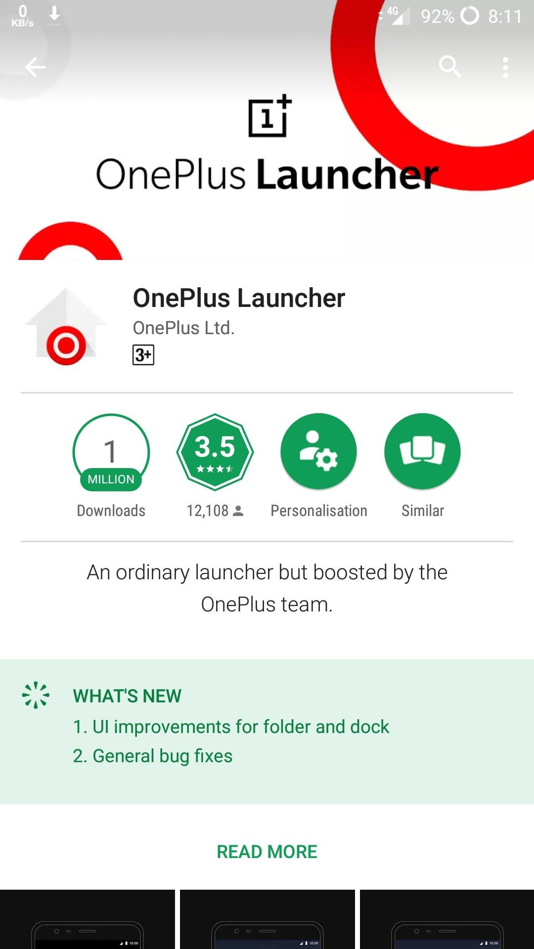 Not showing Uninstall and Open option in OnePlus launcher  - OnePlus