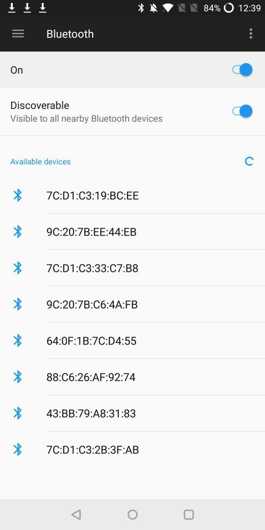 No device name but device Mac address in Bluetooth searching