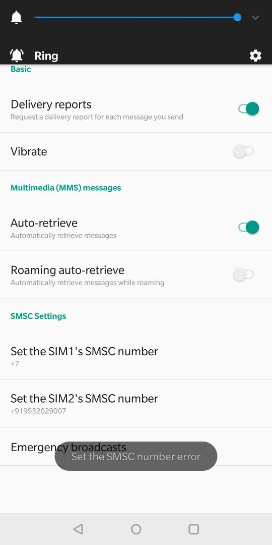 SMS is not being sent - OnePlus Community