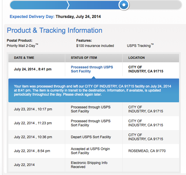 Usps electronic shipping info received not updating free taiwan dating sites