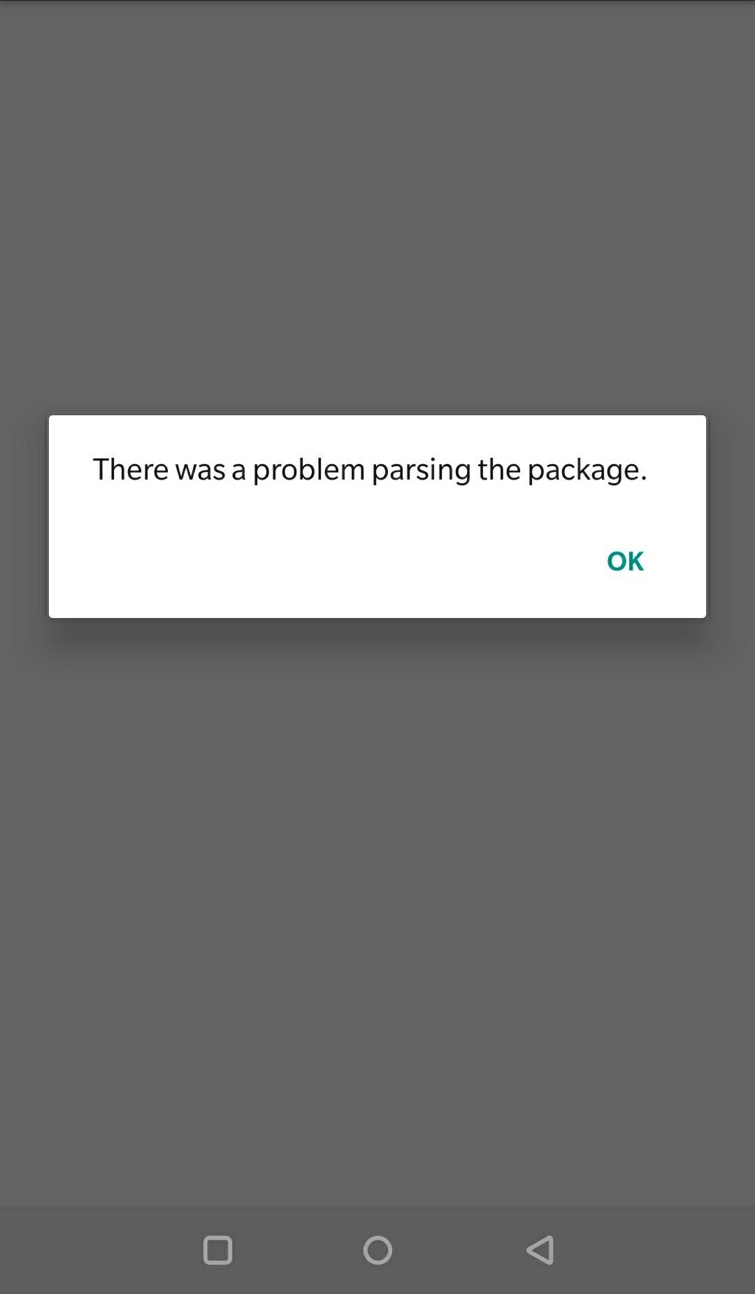Google camera Not able to install   Parsing the package error