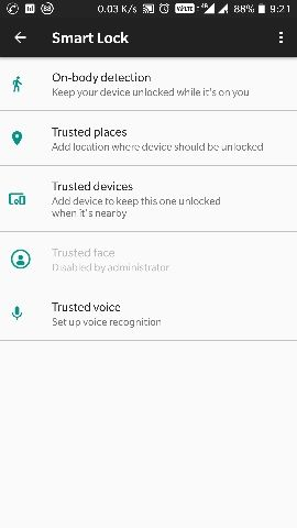 Trusted Face Disabled by Administrator - OnePlus Community