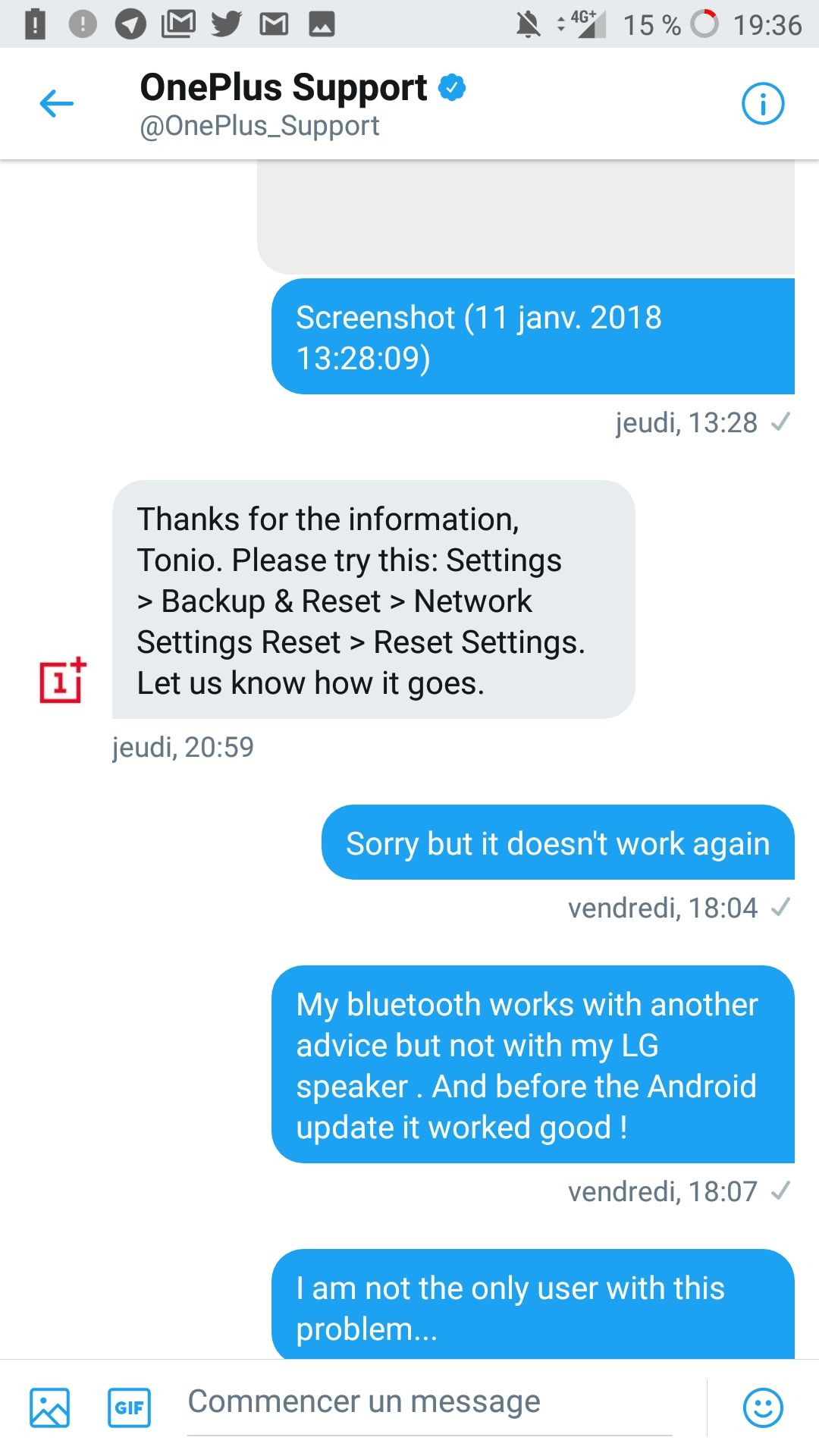Problem with bluetooth connexion to LG speaker - OnePlus Community