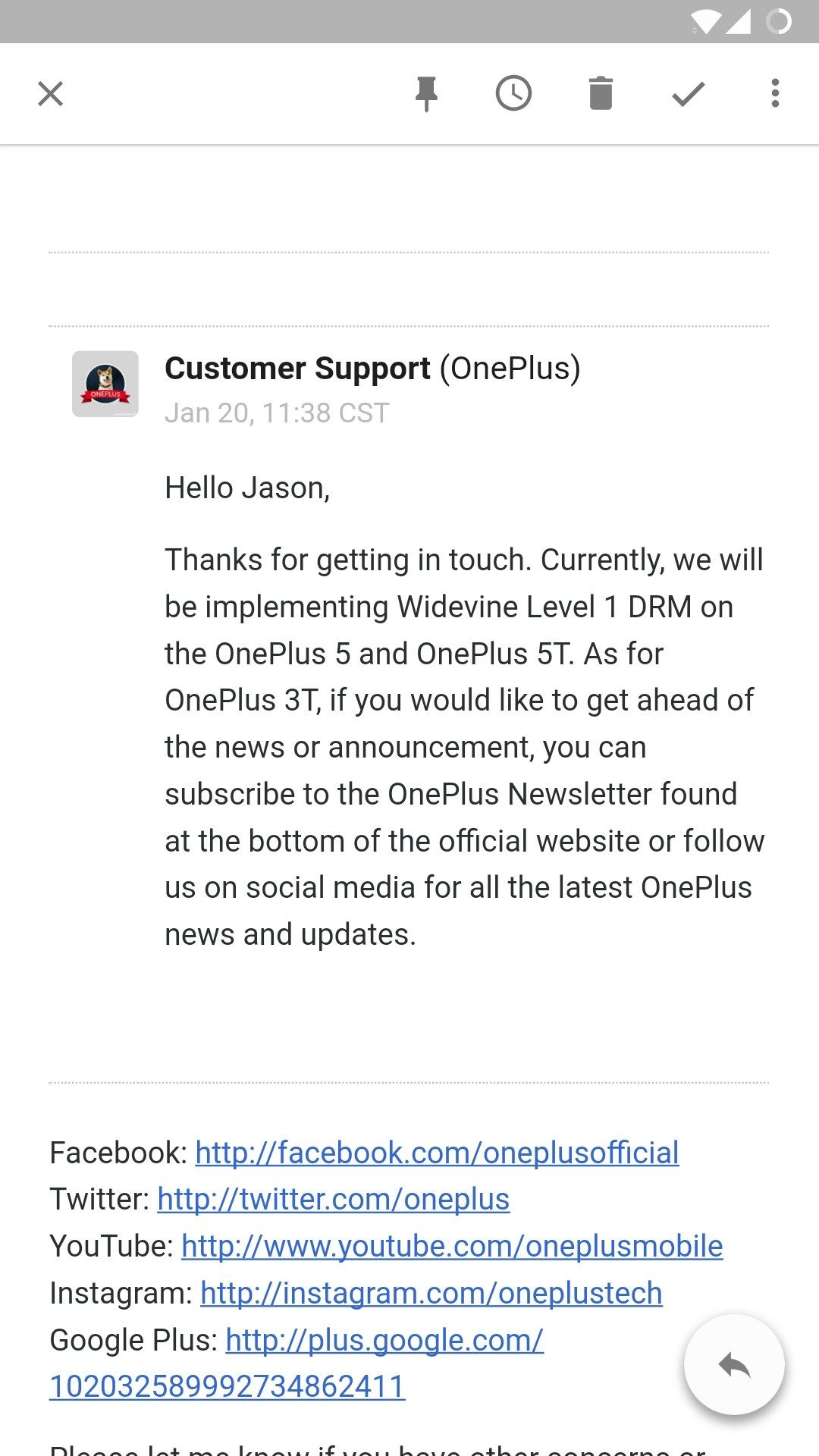 Display - Widevine L1 Authorization - OnePlus Community