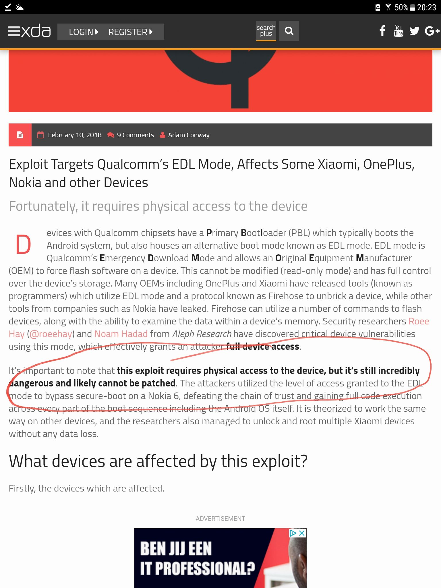 Exploit targets Qualcomm EDL mode, affects OnePlus and other