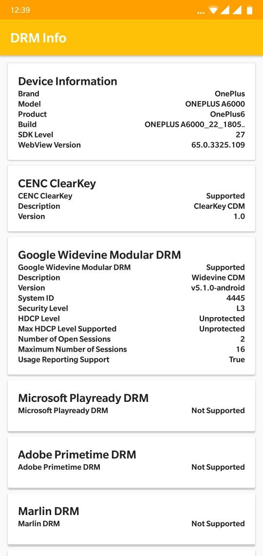 CLOSED]No Widevine L1 support for OP6 - OnePlus Community