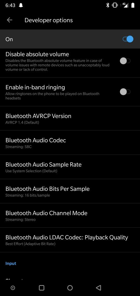 Bleutooth Audio Codec and Sample Rate - OnePlus Community