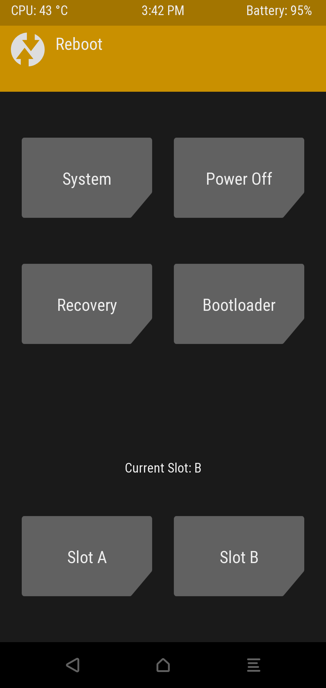 Other - Slot a/b Options on TWRP for OnePlus 6 (Official