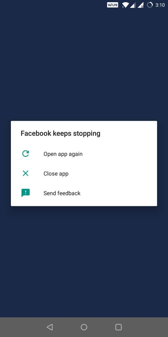 Facebook and other apps keeps on crashing - OnePlus Community