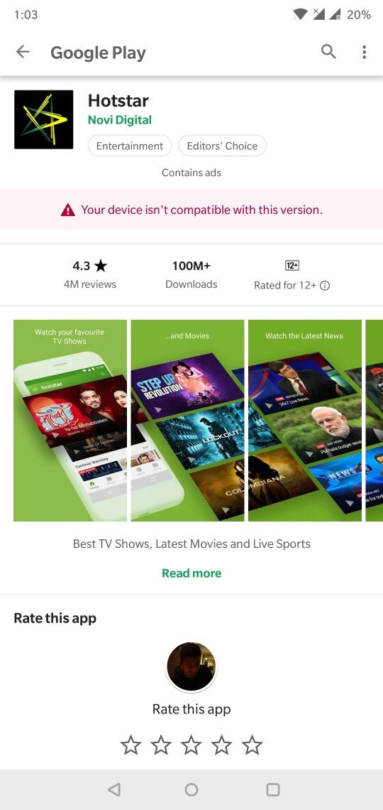hotstar downloading issues - OnePlus Community