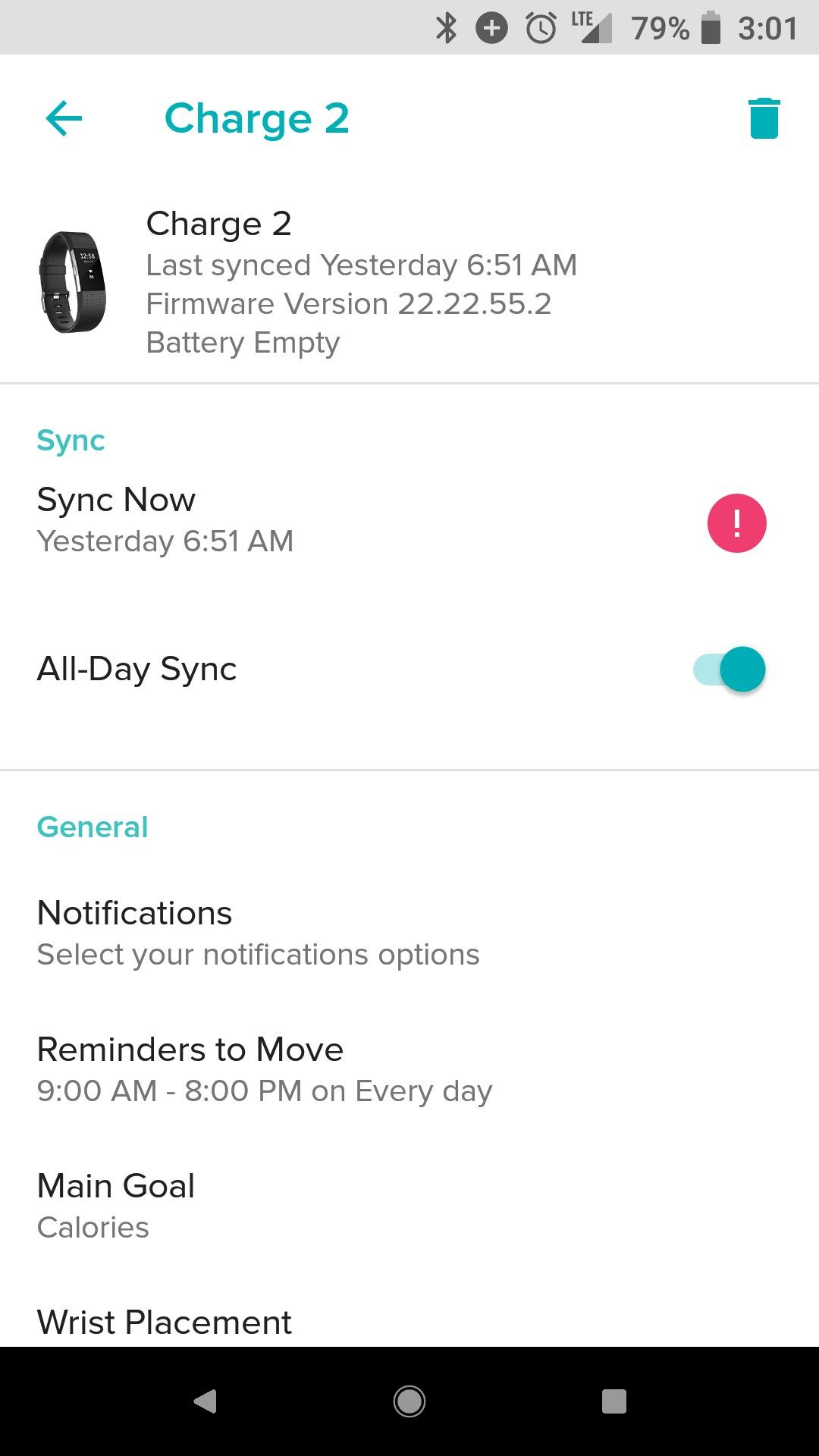 Fitbit Sync Issues 2018