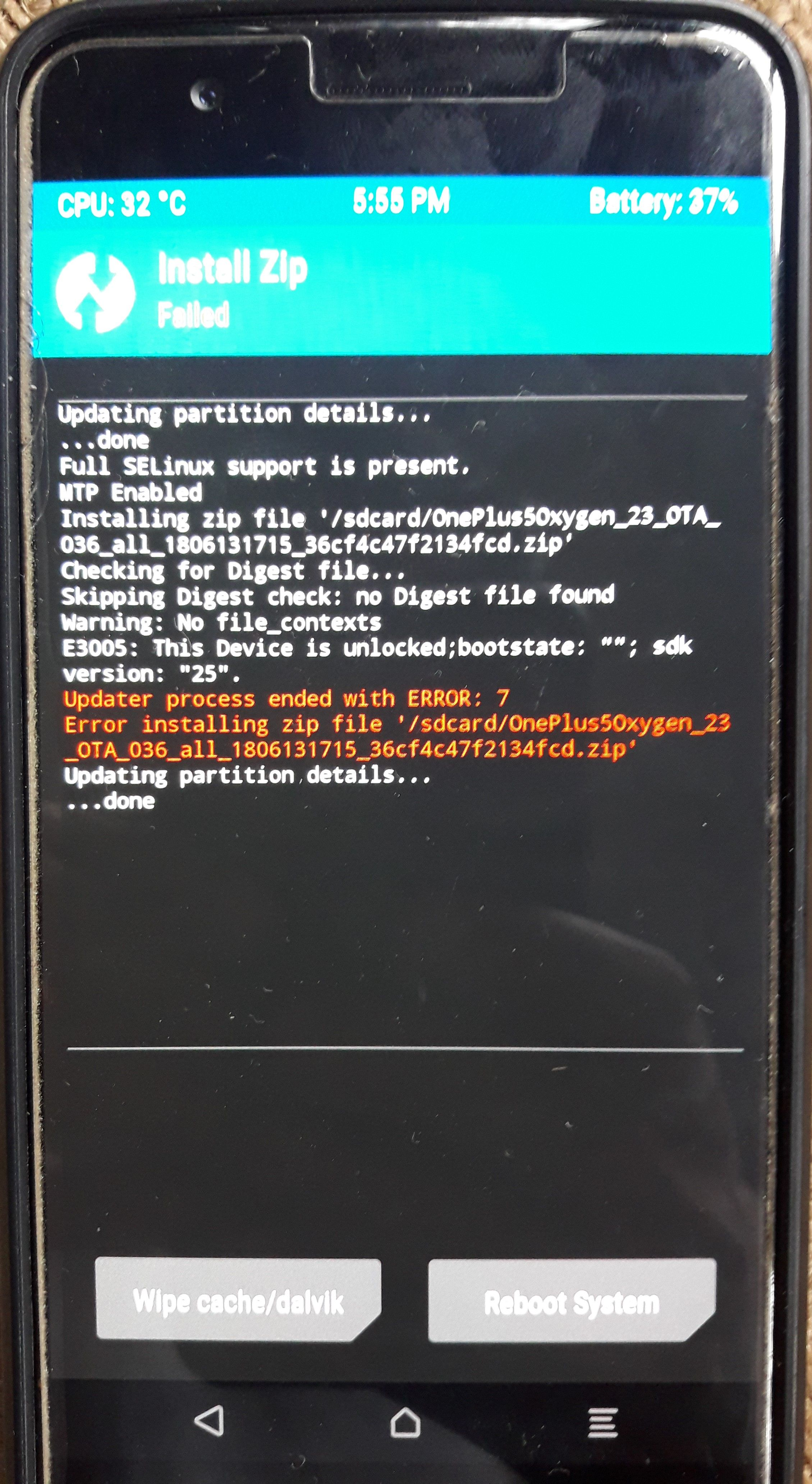 Other - No OS situation  Accidentally deleted thru Twrp 3 2 2-0
