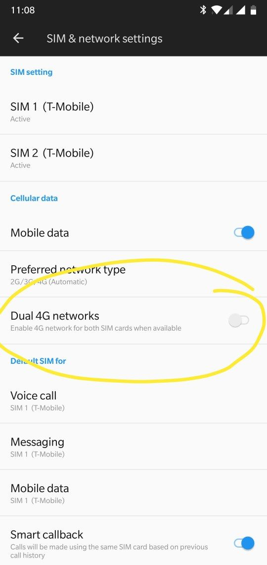 Dual 4G Networks Setting - OnePlus Community