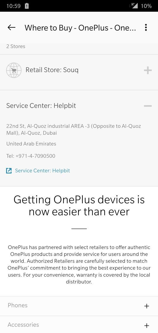 where will i find service center in Abu Dhabi ? - OnePlus Community