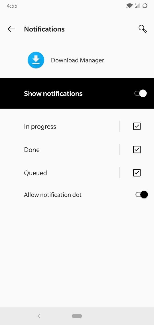 Download progress notification not visible - OnePlus Community