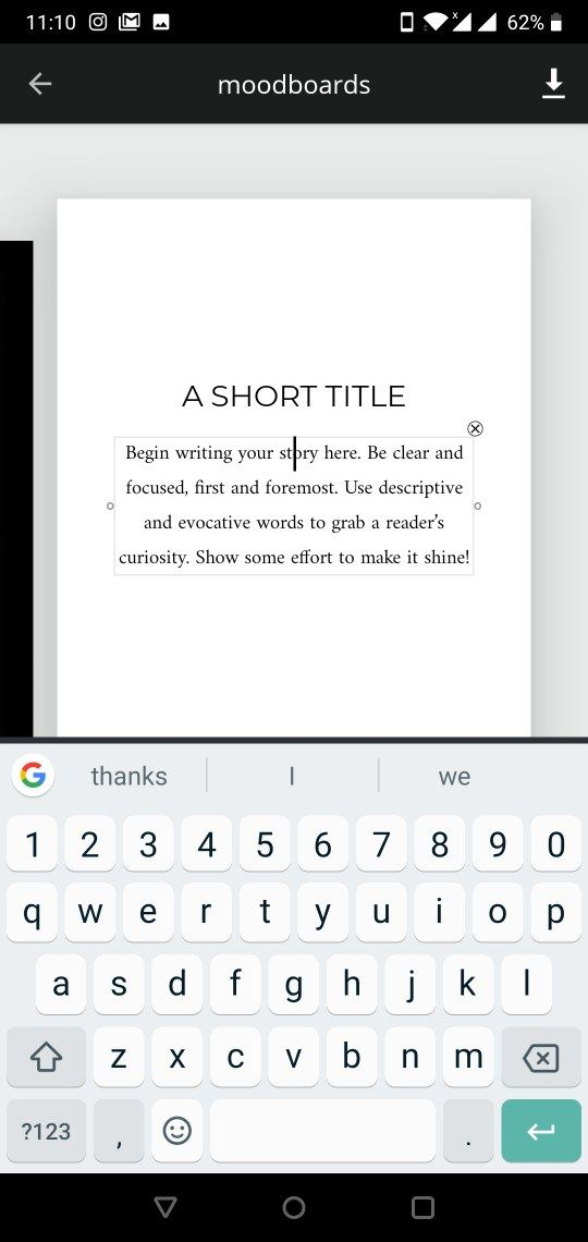 Keyboard (gboard) hiding text options in the app unfold