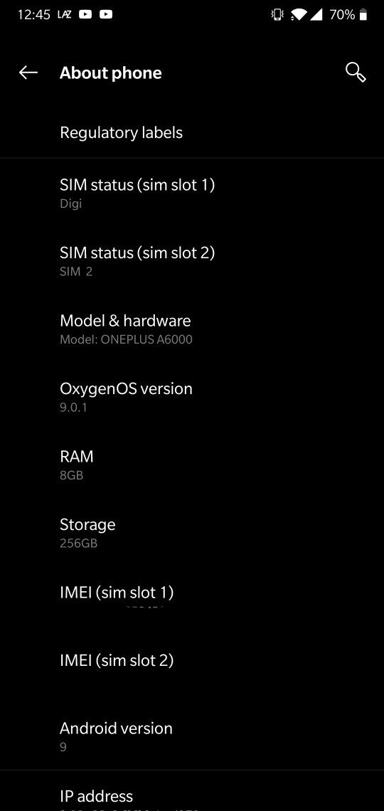Secret code not working with Android Pie OP6 - OnePlus Community