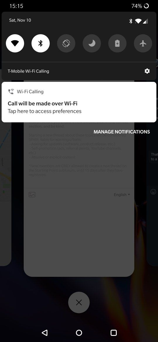 6T T-Mobile Wifi Calling Notification - OnePlus Community