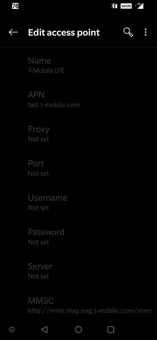 Unlocked version One+ 6T APN settings grayed out - OnePlus