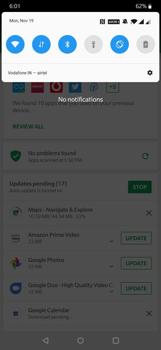 Ongoing downloads notification not seen at all! - OnePlus Community
