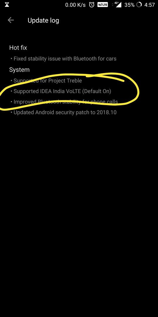 volte for sim slot -2 not available after update to android pie 9 0
