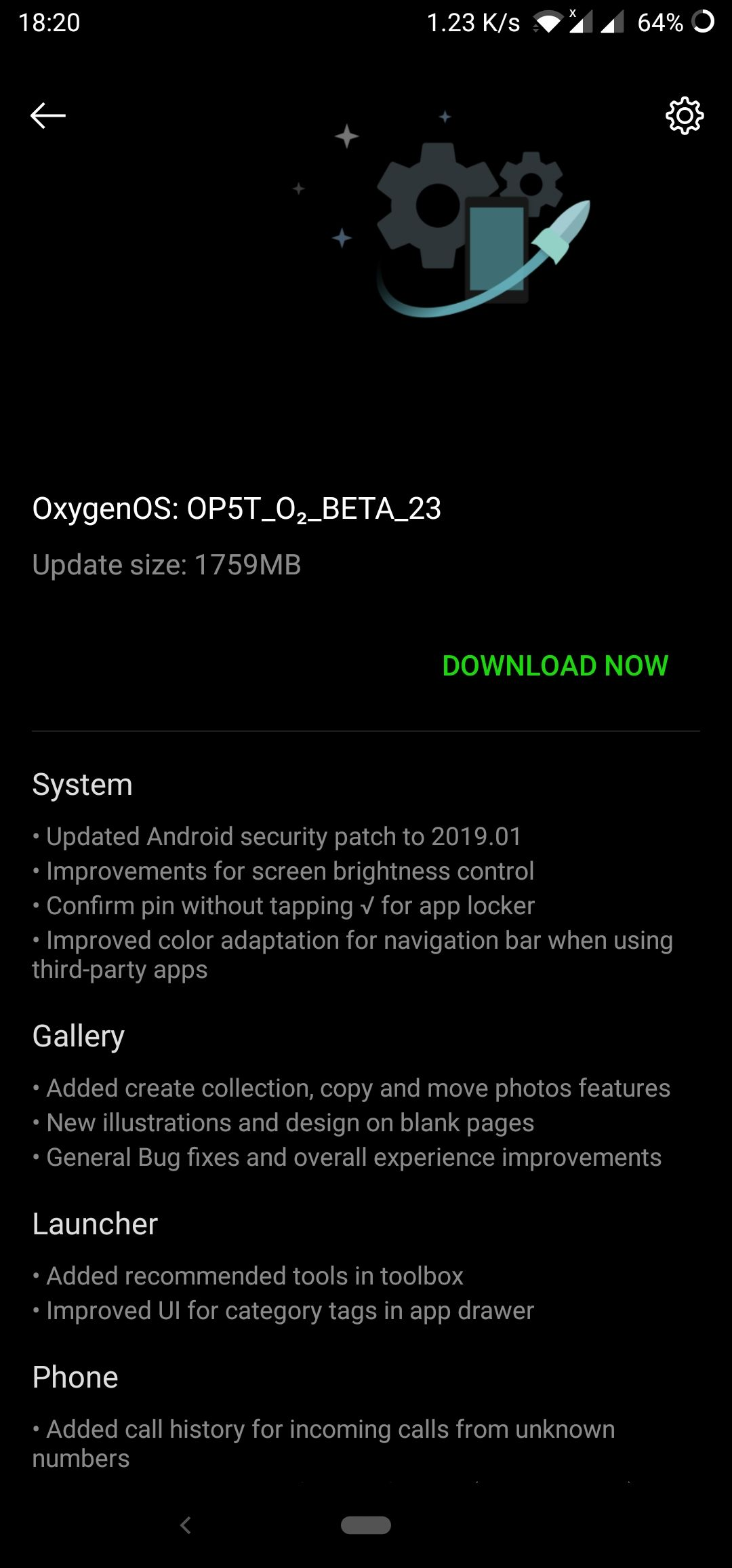 OxygenOS Open Beta 25 for the OnePlus 5 and Open Beta 23 for OnePlus