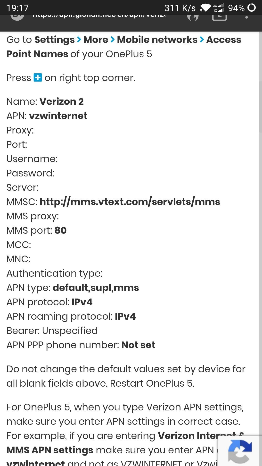 APN Settings Altered by 9 0 3 Update - OnePlus Community