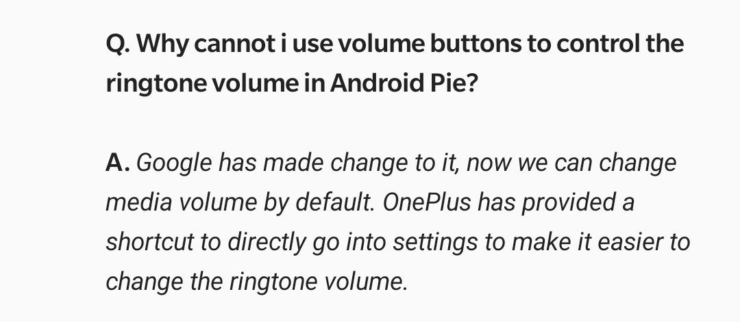 Oneplus 5t Volume button can only control media volume