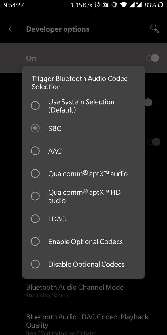 Problem in changing Bluetooth Audio codec - OnePlus Community