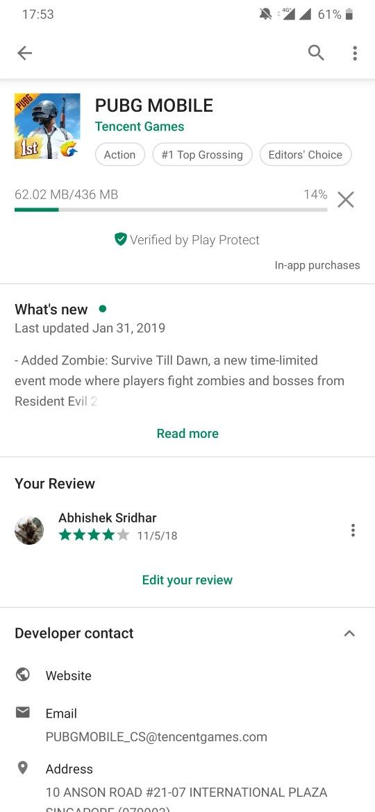 Unable to Download pubg update on play store  - OnePlus Community