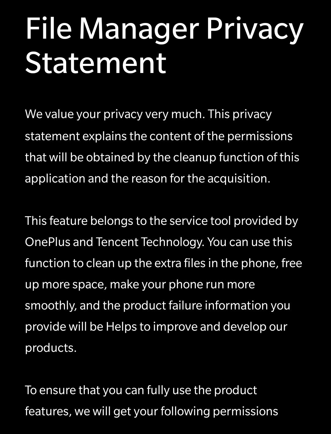 Petition Against File Manager Cleanup Oneplus Community
